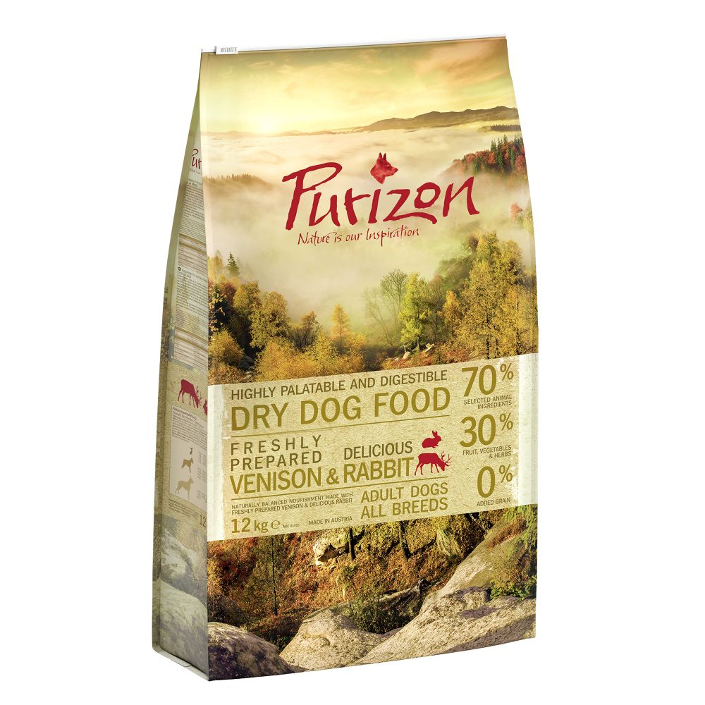 2 x 12kg Purizon Grain-Free Dry Dog Food - 10% Off!* - Adult Single Meat: Lamb with Peas