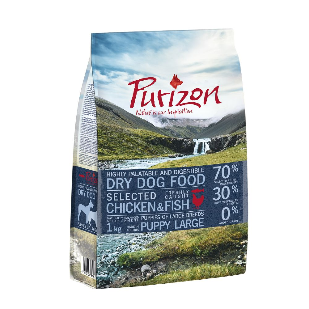 2 x 1kg Bags Purizon Dry Dog Food