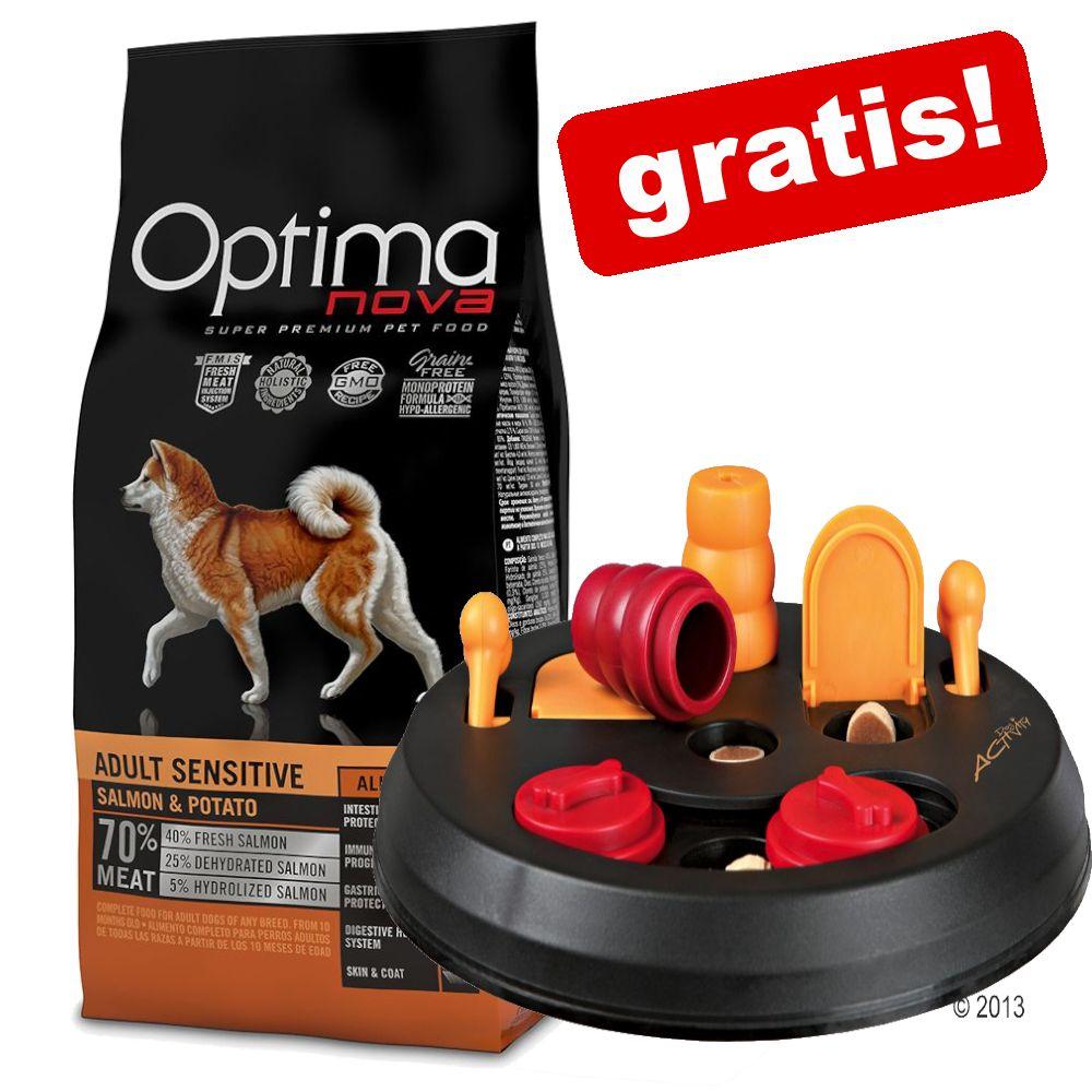 12 kg Optimanova + Trixie Dog Activity Flip Board på köpet! Adult Digestive Rabbit & Potato
