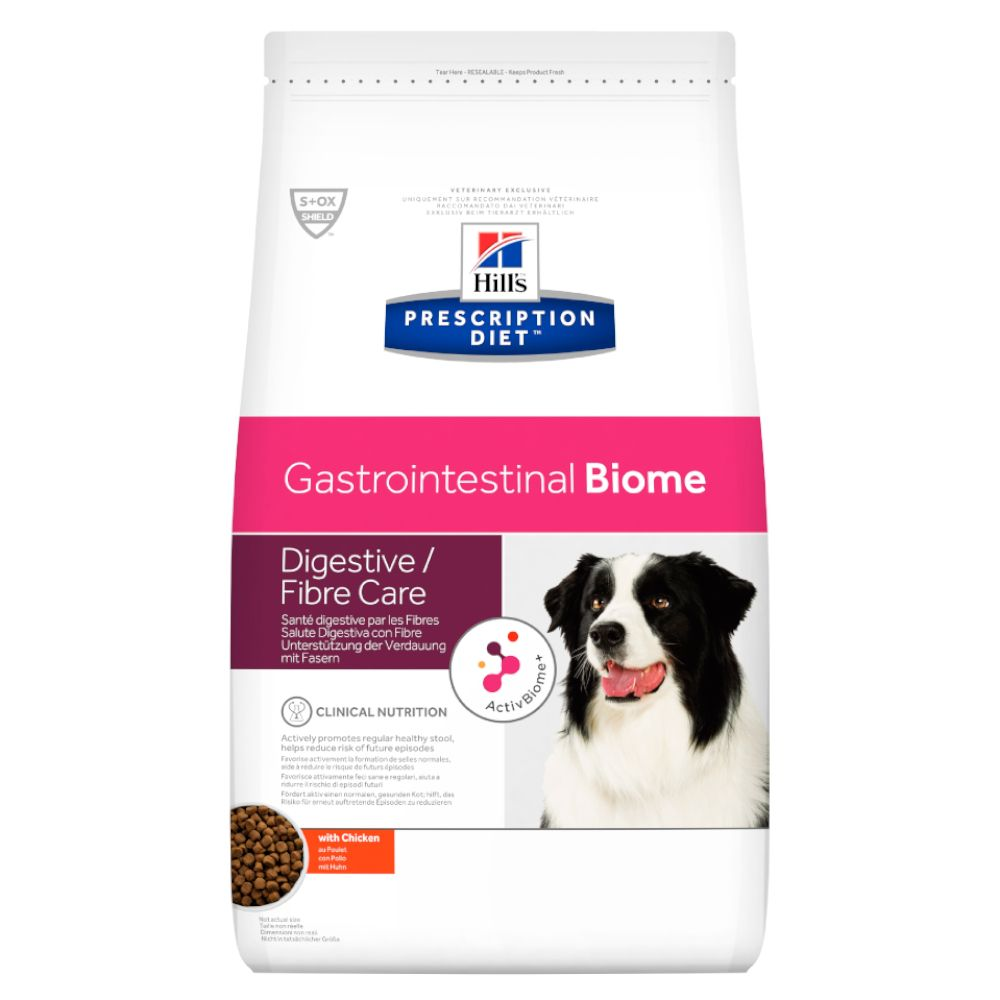 2x10kg Digestive Fibre Care Biome Gastrointestinal Canine Prescription Diet Hill's Dry Dog Food