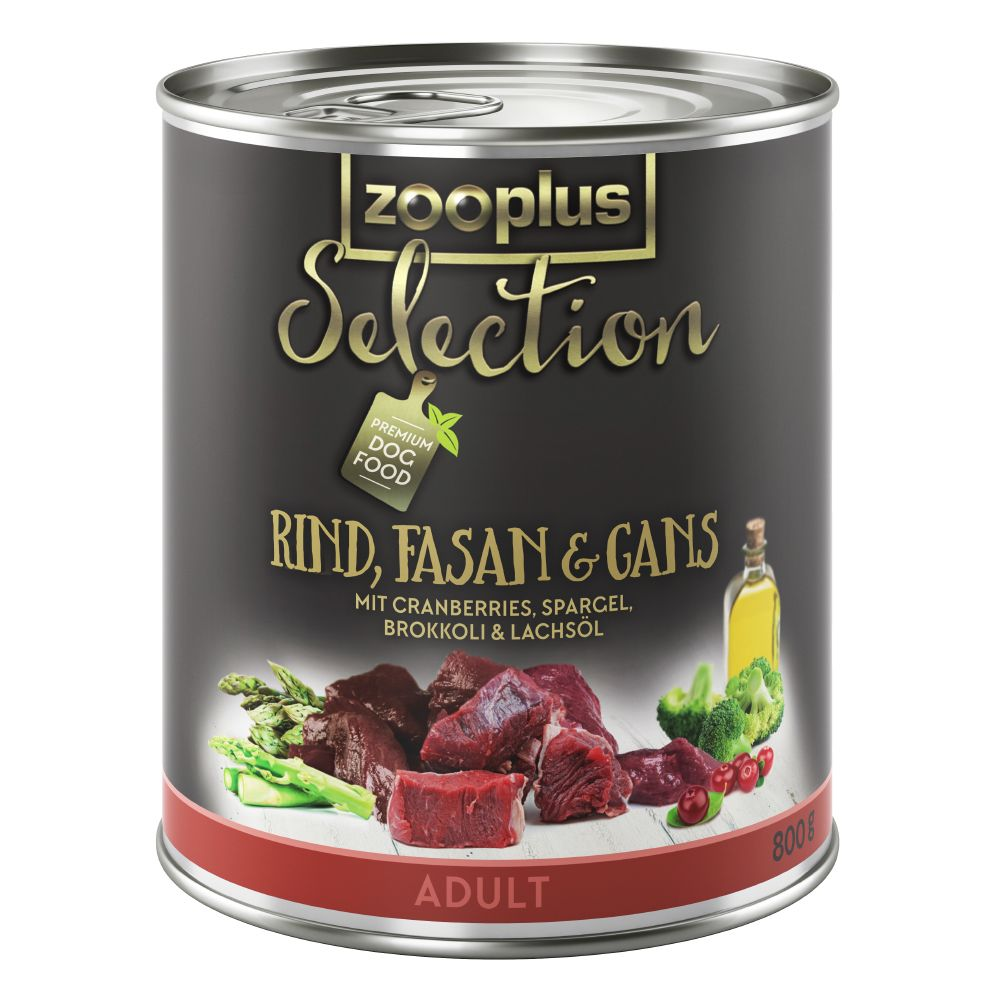 zooplus Selection Saver Pack 12 x 800g - Adult Beef, Pheasant & Goose