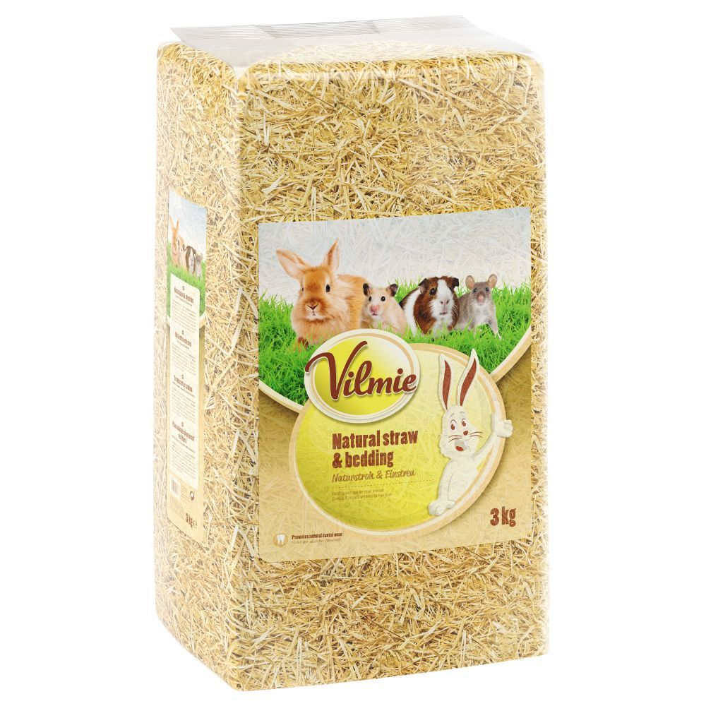 3kg Paille naturelle Vilmie - Nourriture pour rongeur et lapin