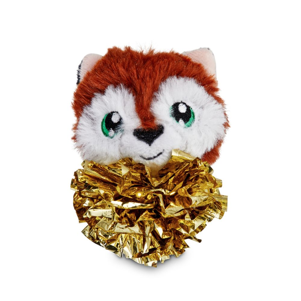 Fox Tinsel Ball Cat Toy