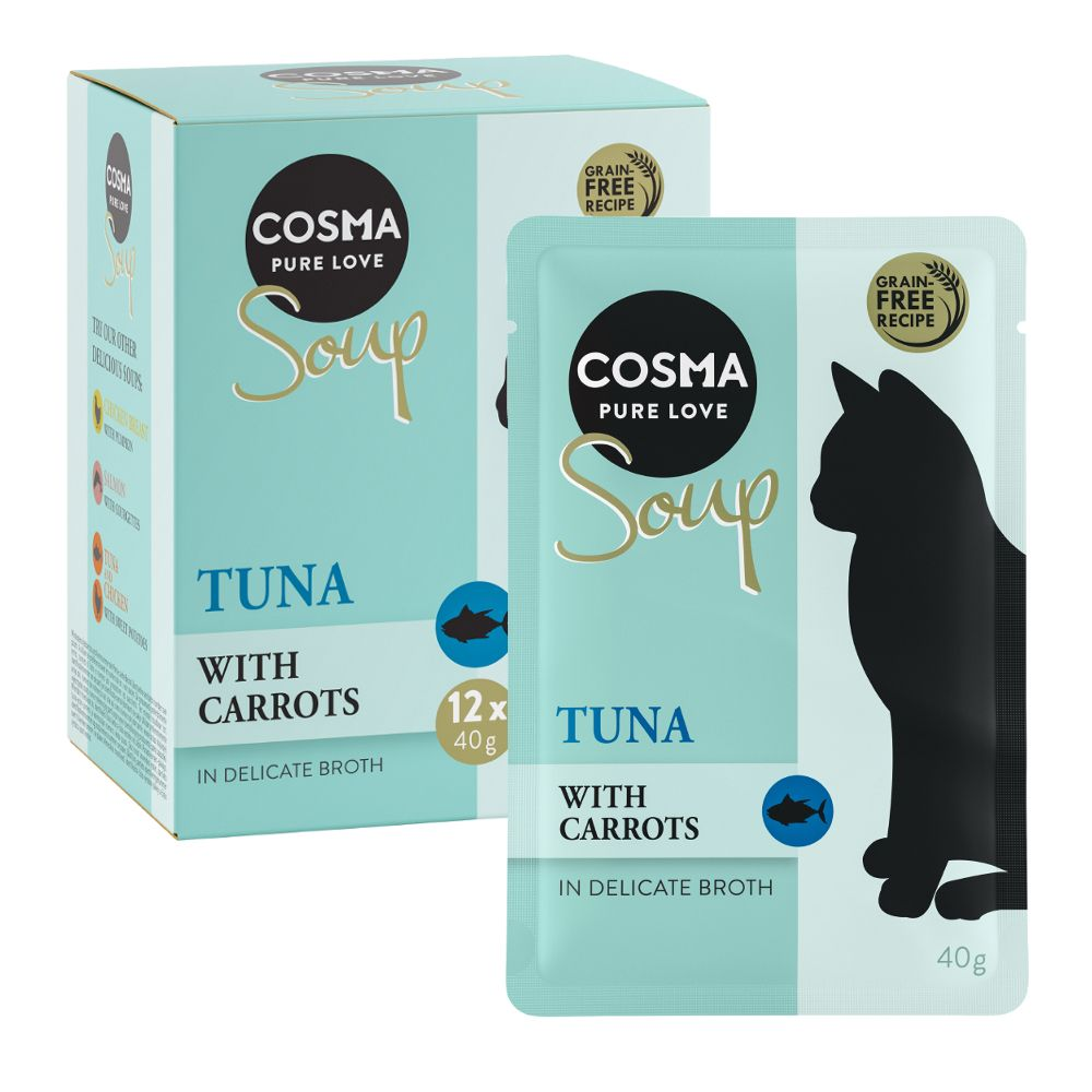 12 x 40g Cosma Soup Wet Cat Food