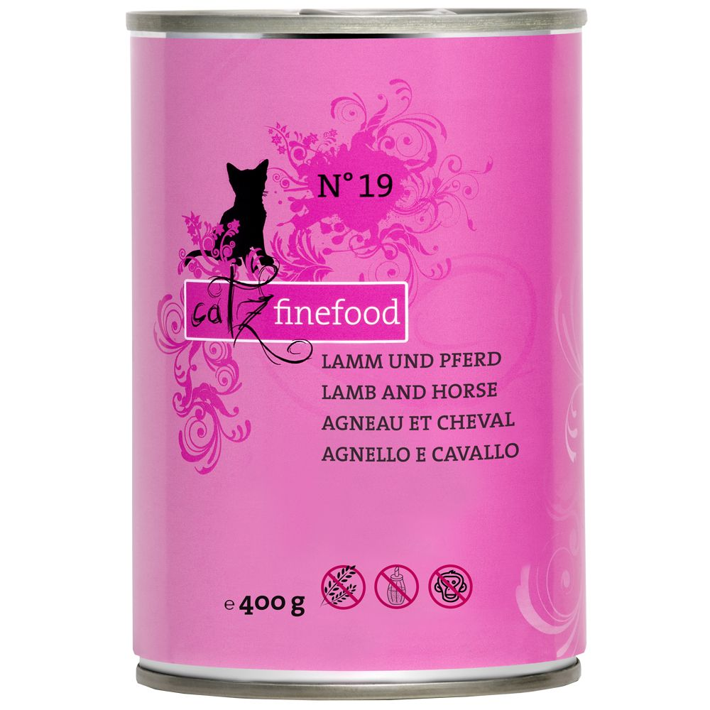 6x400g Lamb & Rabbit Catz Finefood Wet Cat Food