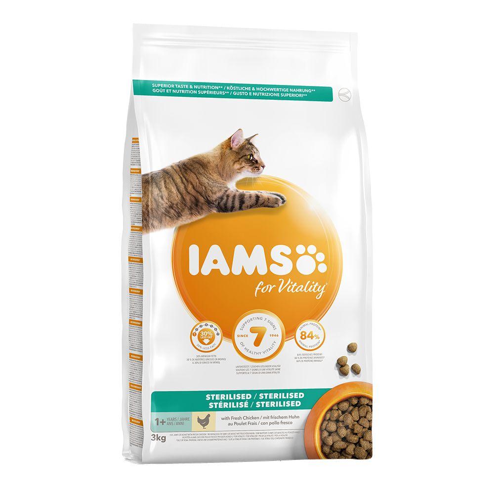 IAMSfor Vitality Adult Sterilised Fresh Chicken Dry Cat Food