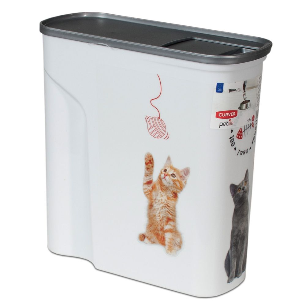INOpets.com Anything for Pets Parents & Their Pets Curver Dry Cat Food Container - 2.5kg capacity