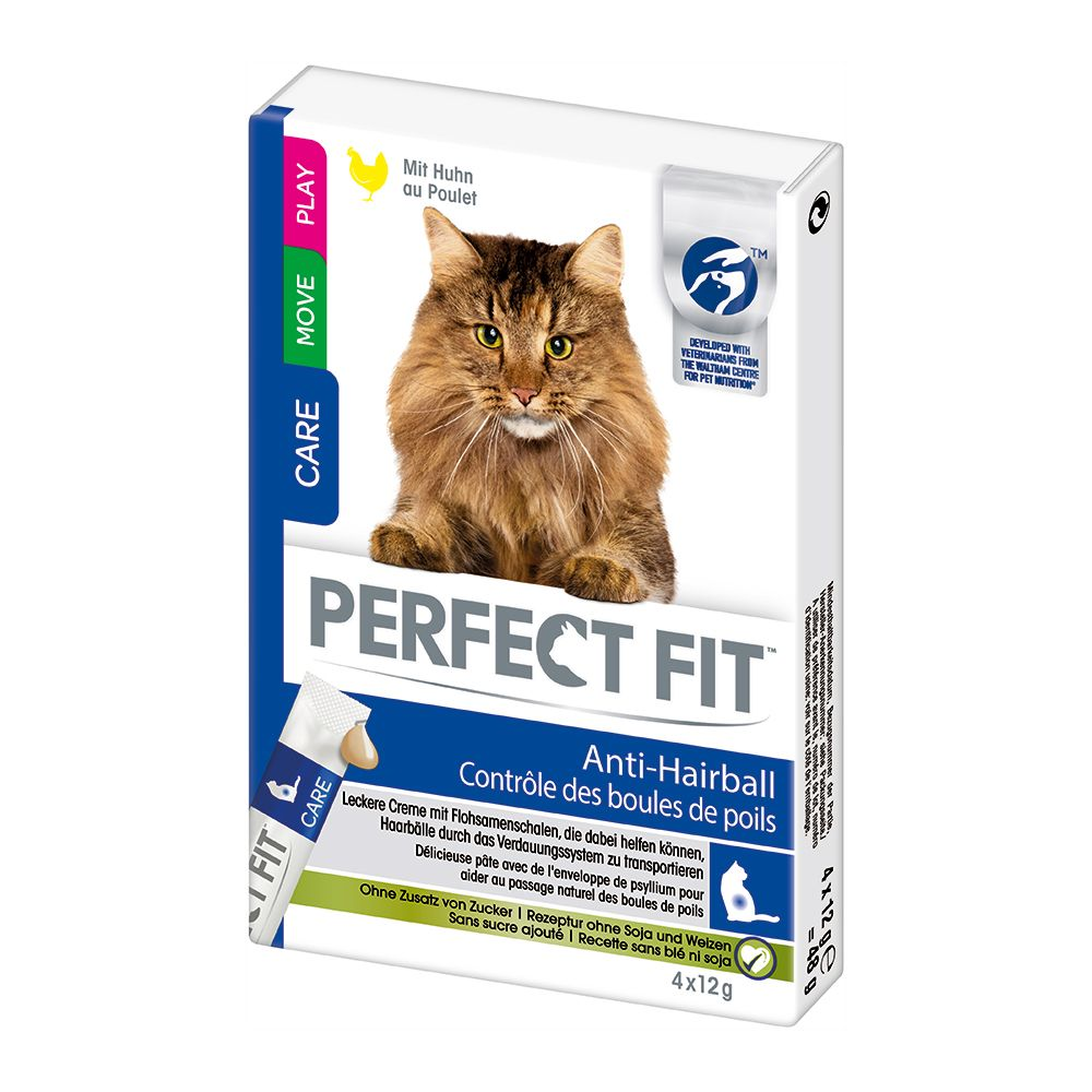 2 x 1.4kg Perfect Fit Dry Cat Food + Anti-Hairball Cat Snacks Free