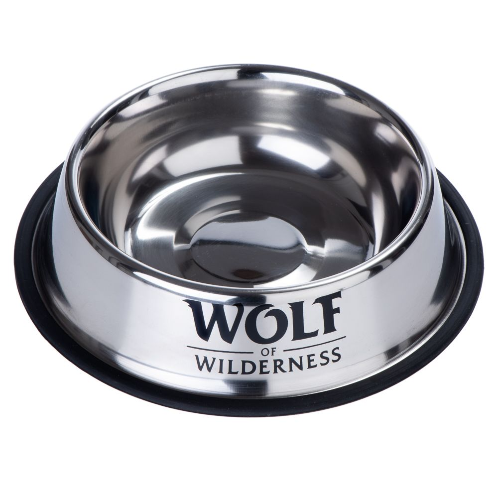 Wolf of Wilderness halksäker rostfri hundskål - 850 ml, Ø 23 cm