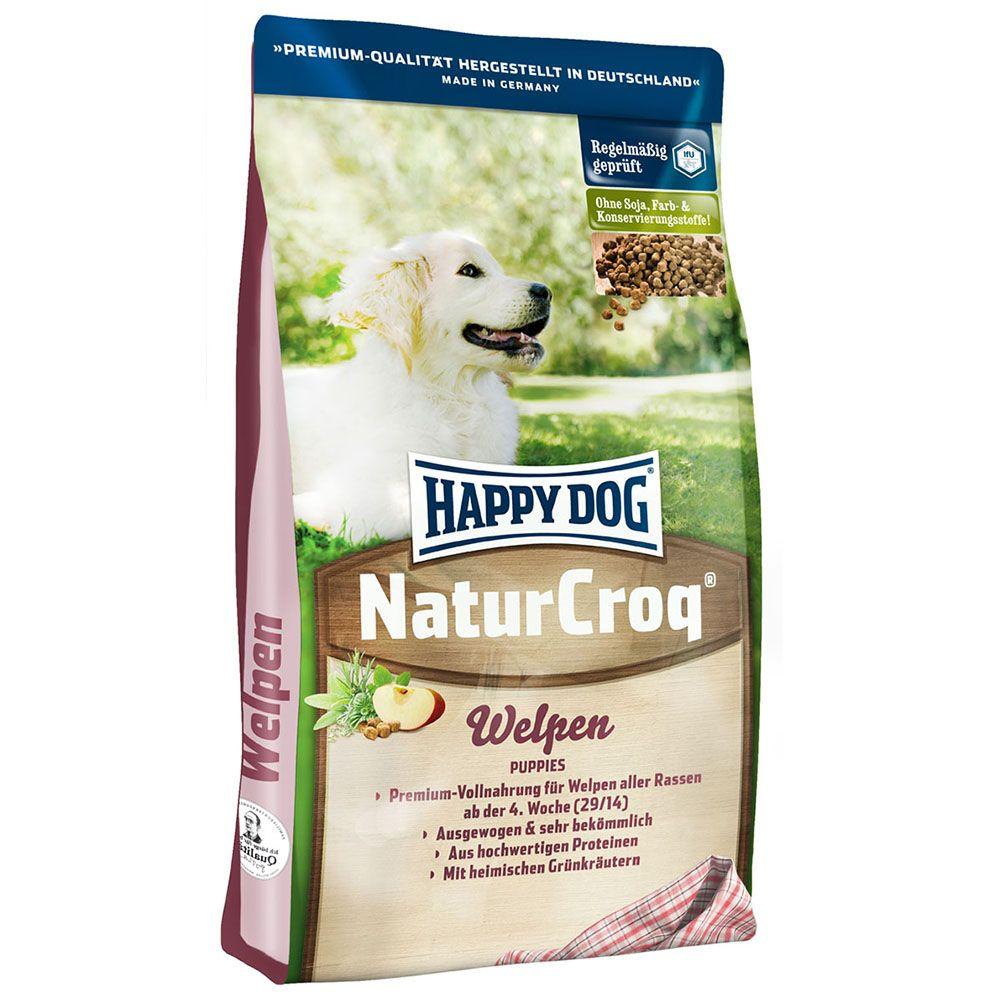 Sparpaket: 2 x 15 kg Happy Dog NaturCroq Welpentrockenfutter