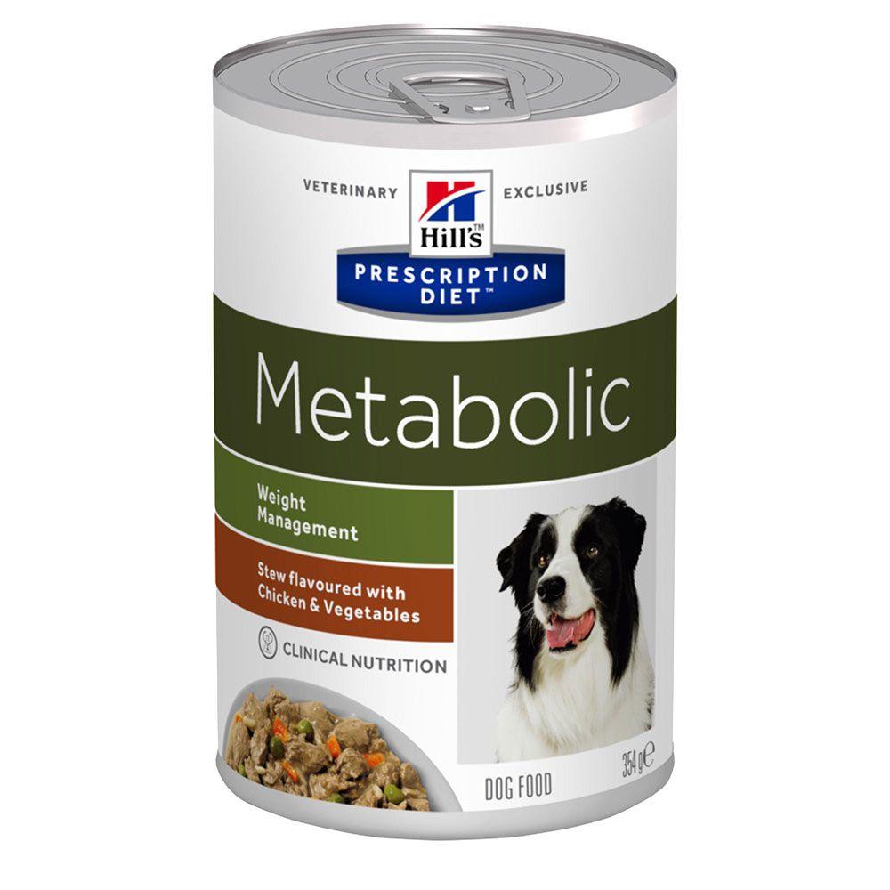 Hill's Prescription Diet Metabolic Weight Management Stew hundfoder - kyckling - Ekonomipack: 48 x 354 g