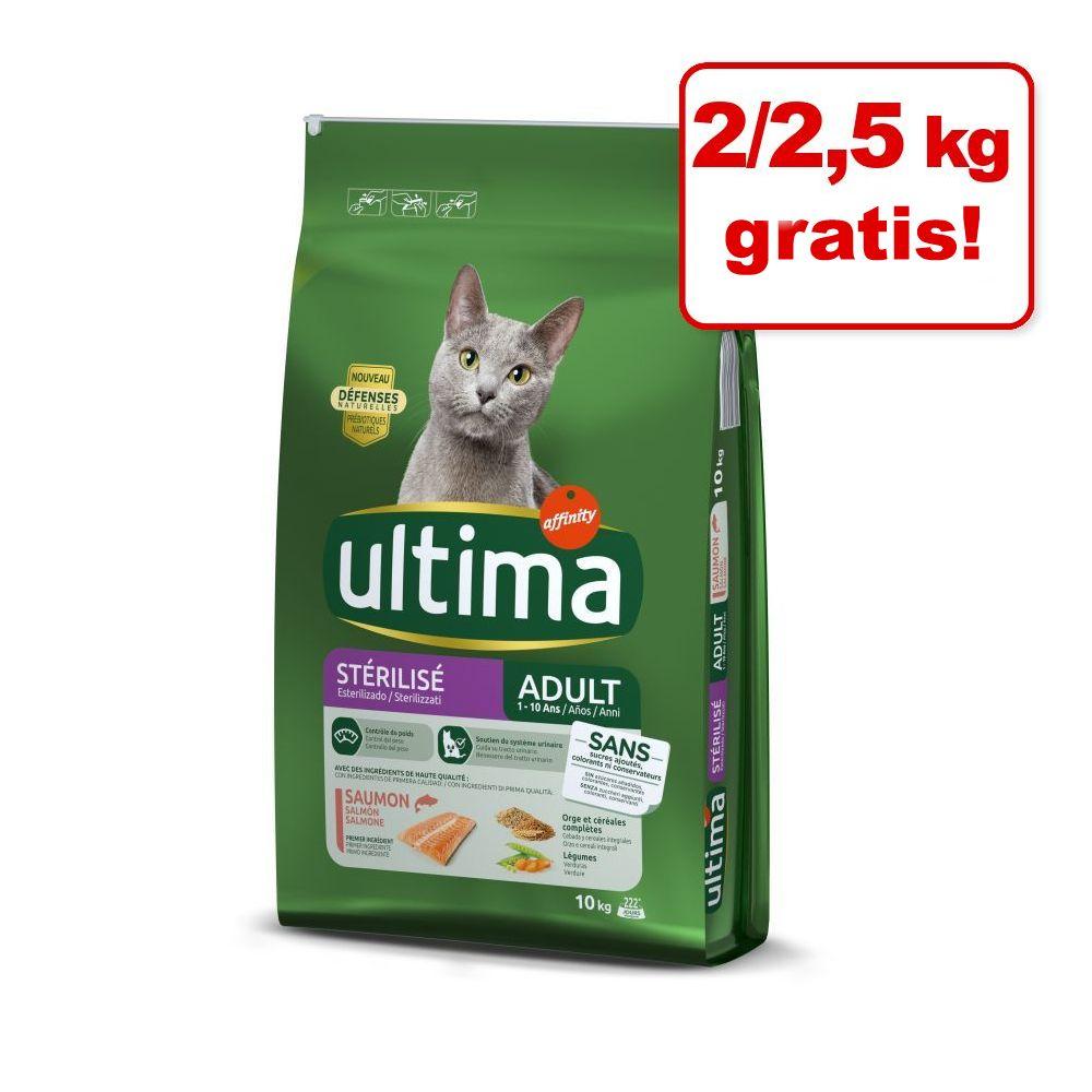 2/2,5 kg på köpet! 7,5/10 kg Ultima Cat - Sterilized Hairball (7,5 kg)