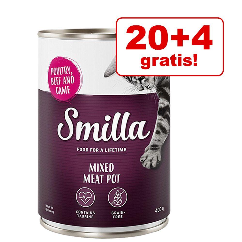 Black Week-pris! 24 x 400 g Smilla Pot våtfoder Poultry Pot Fjäderfäkött med fjäderfähjärtan
