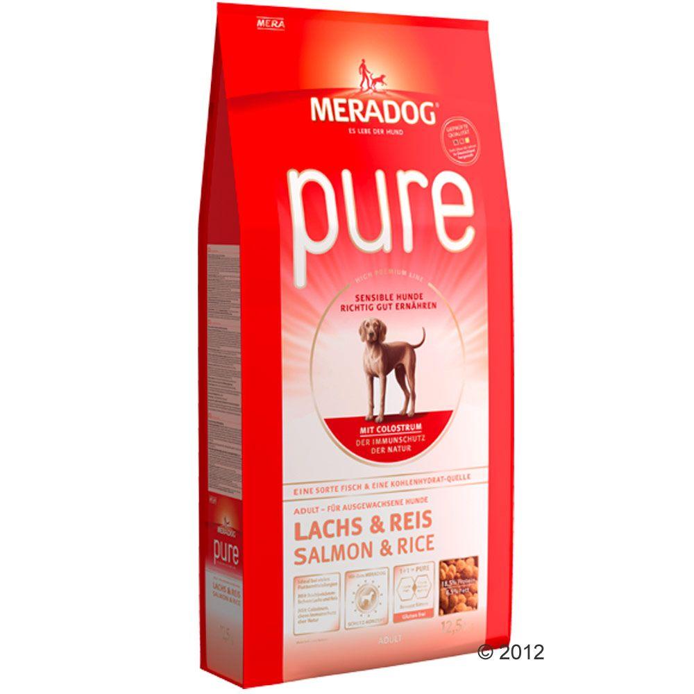 Mera Dog Pure, łosoś i ryż - 2 x 12,5 kg