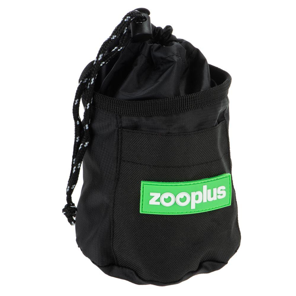 Godisväska med reflextrådar L 11 x B 11 x H 13 cm, svart med zooplus-logga