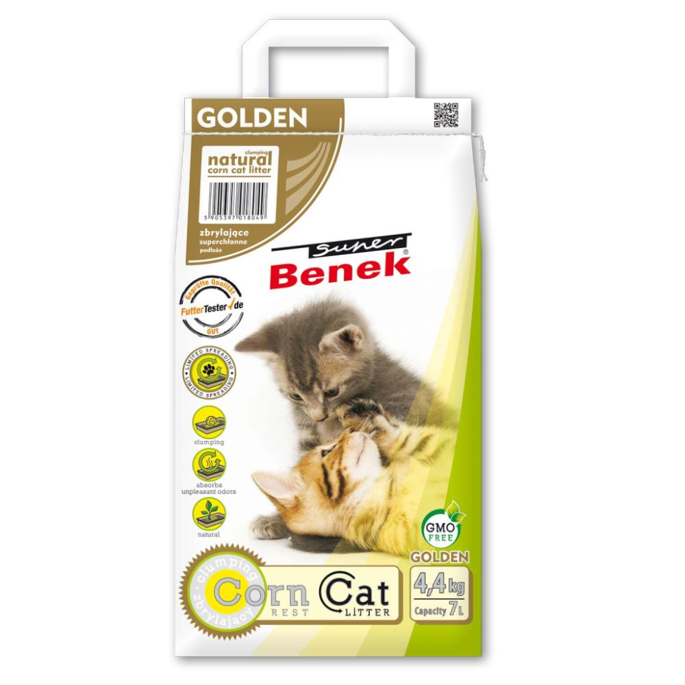 Super Benek Corn Cat Golden - 7 l (ca 4,4 kg)