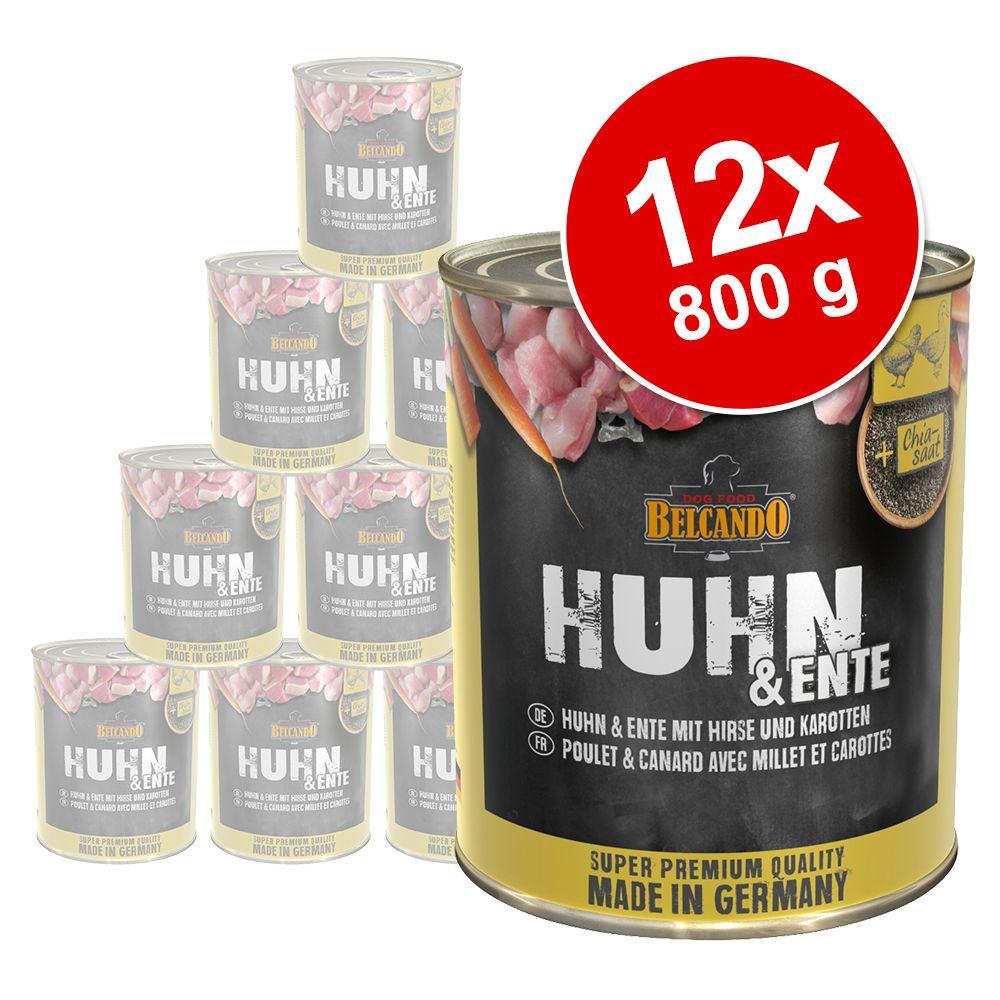 Sparpaket Belcando Super Premium 12 x 800 g - Huhn & Ente mit Hirse & Karotten