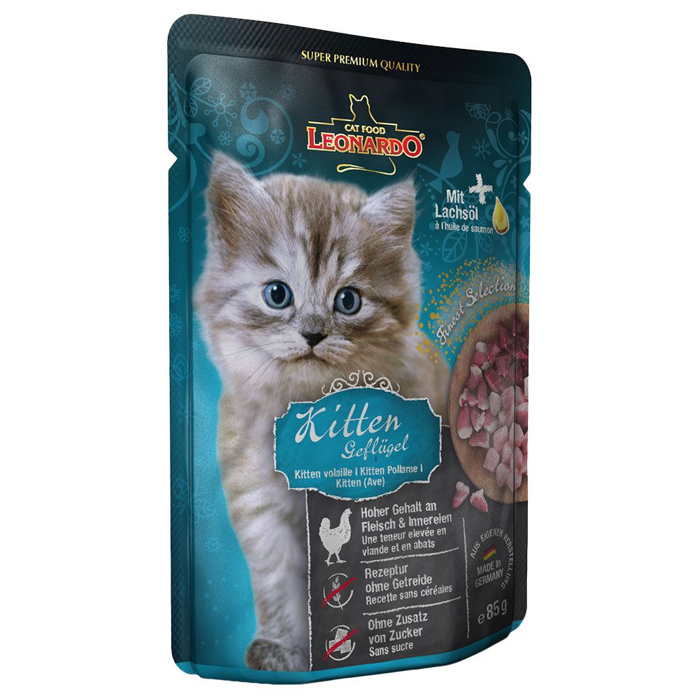 Image of Leonardo Finest Selection Kitten Pollo Puro in Busta - 6 x 85 g