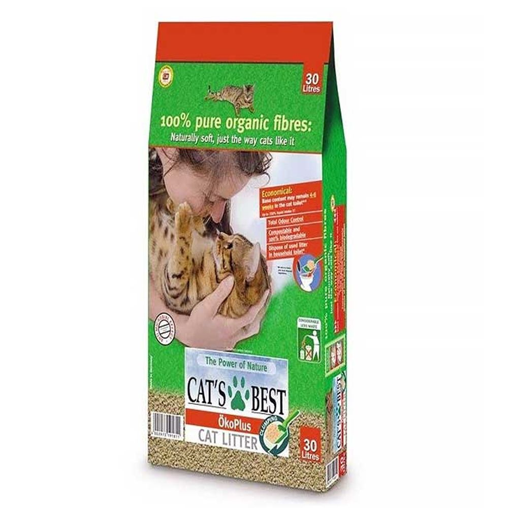 Cat's Best Öko Plus Cat Litter - 30l
