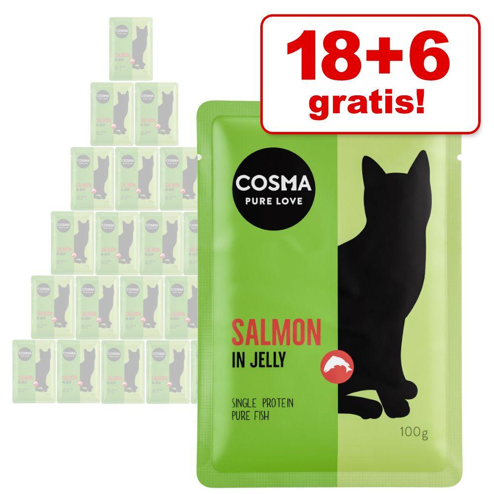 18 + 6 på köpet! Cosma Thai/Asia 24 x 100 g portionspåse - Thai/Asia Tonfisk & krabbkött