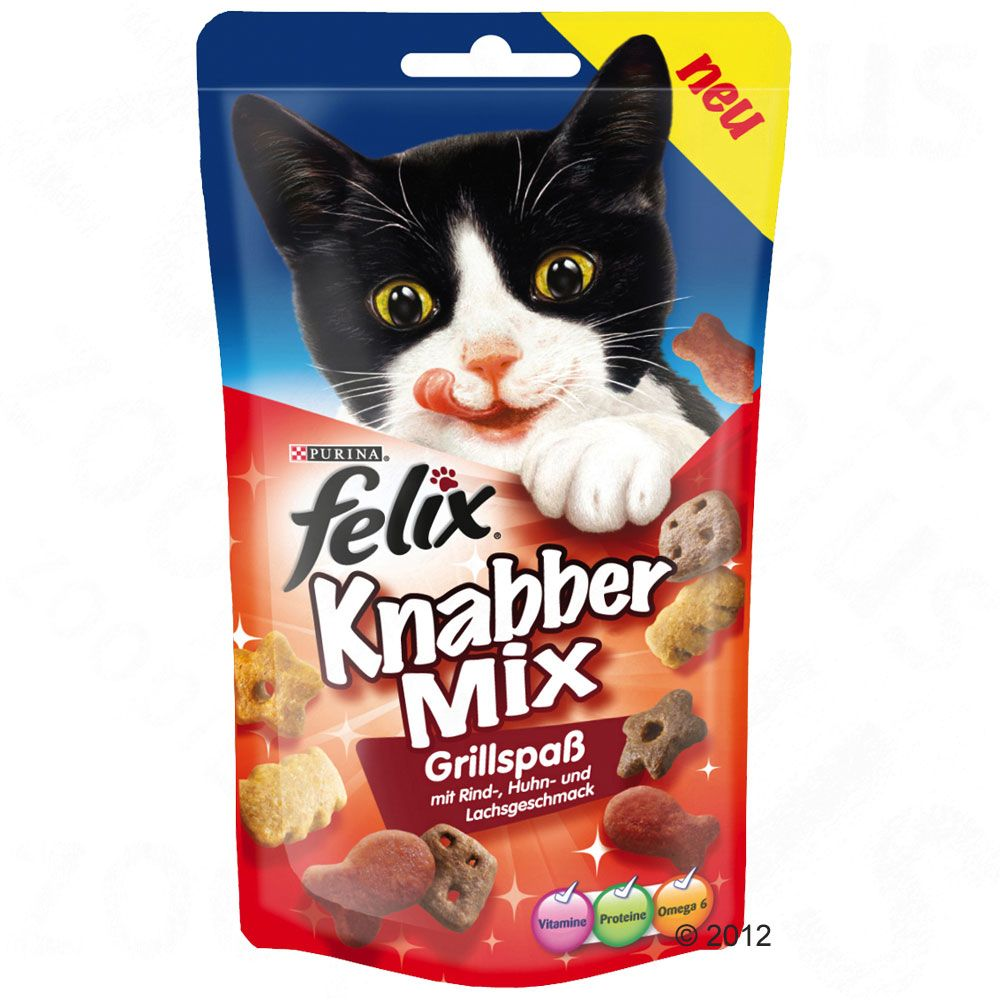 9 x 60g Felix Goody Bag Cat Treats - 6 + 3 Free!* - Mixed Grill (9 x 60g)