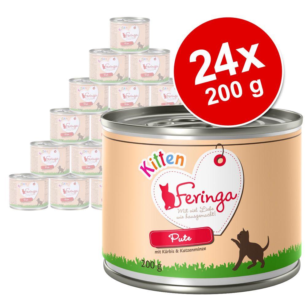 Varčno pakiranje: Feringa Kitten 24 x 200 g - Puran
