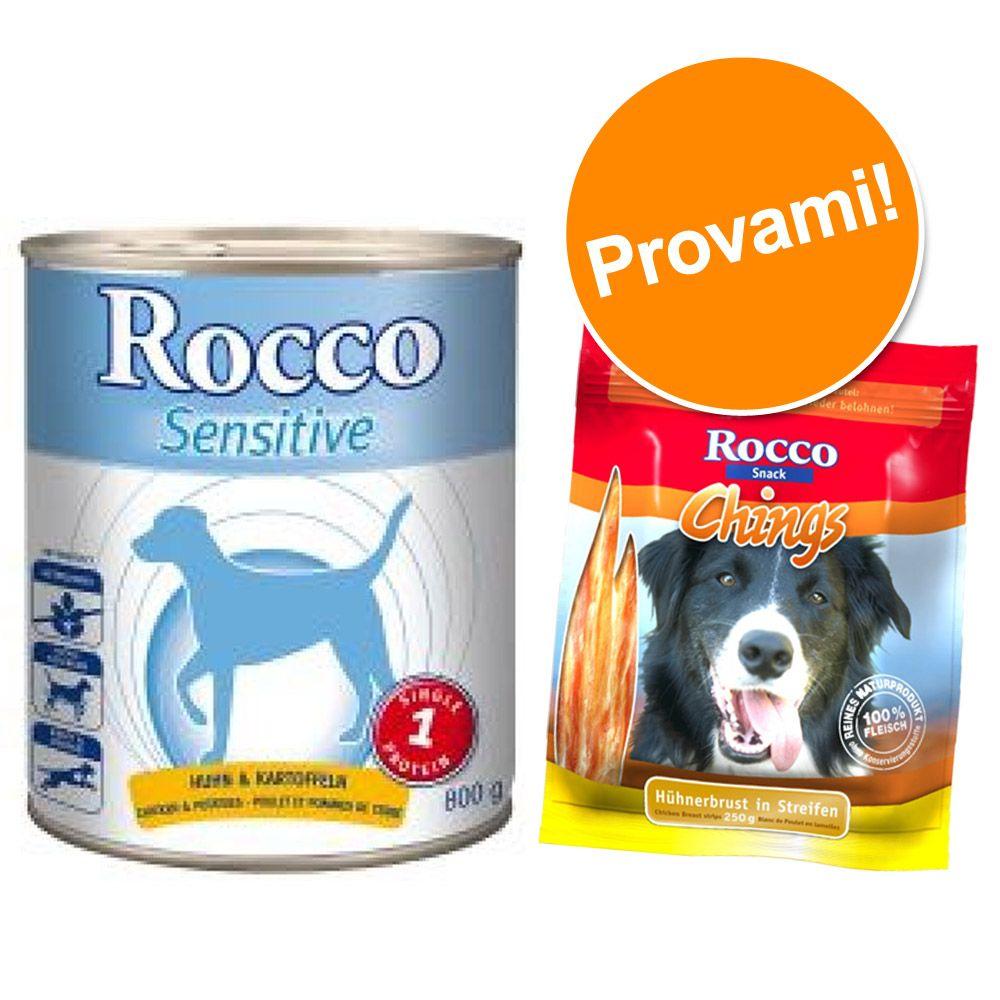 Image of Set prova misto! Rocco Sensitive + 250 g Rocco Chings - 6 x 400 g Pollo con Patate