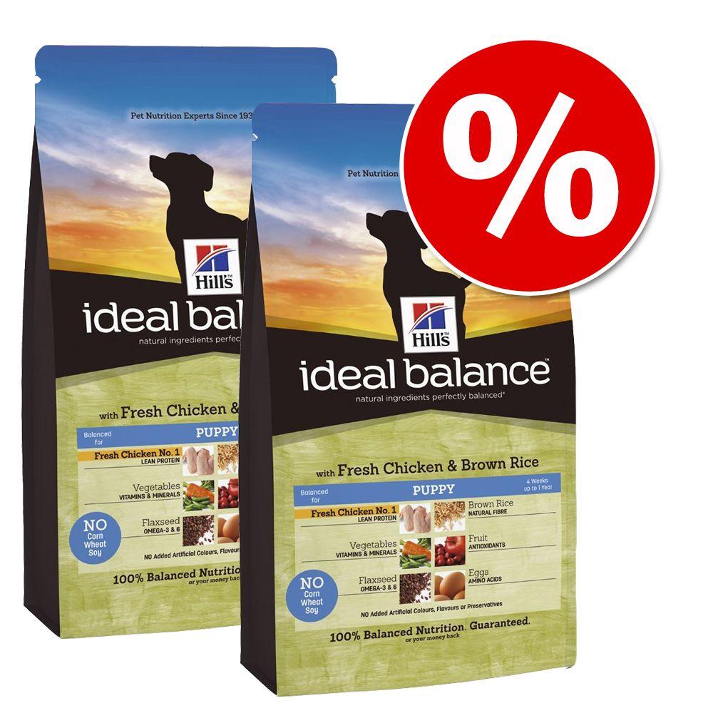 Ekonomipack: 2 eller 3 påsar Hill's Canine Ideal Balance – Puppy Chicken & Rice (2 x 12 kg)