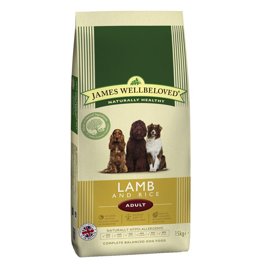 James Wellbeloved Adult Lamm & Reis - Sparpaket: 2 x 15 kg