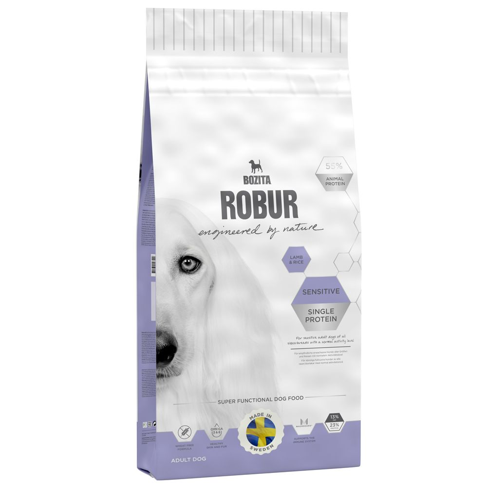 Bozita Robur Sensitive Single Protein Lamm & ris - Ekonomipack: 2 x 15 kg