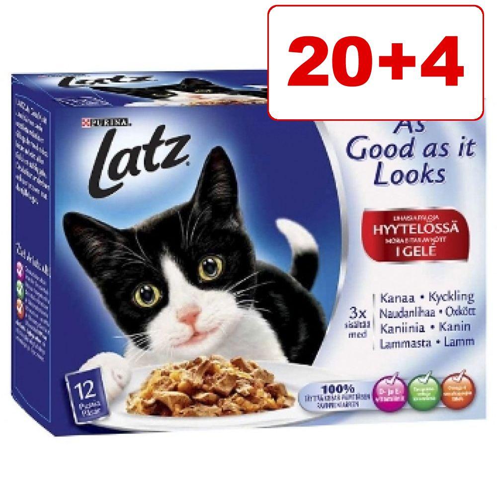 20 + 4 på köpet! Latz kattmat i portionspåse 24 x 100 g ''''As good as it looks... dubbelt så gott'''' - Grönsaksvariationer