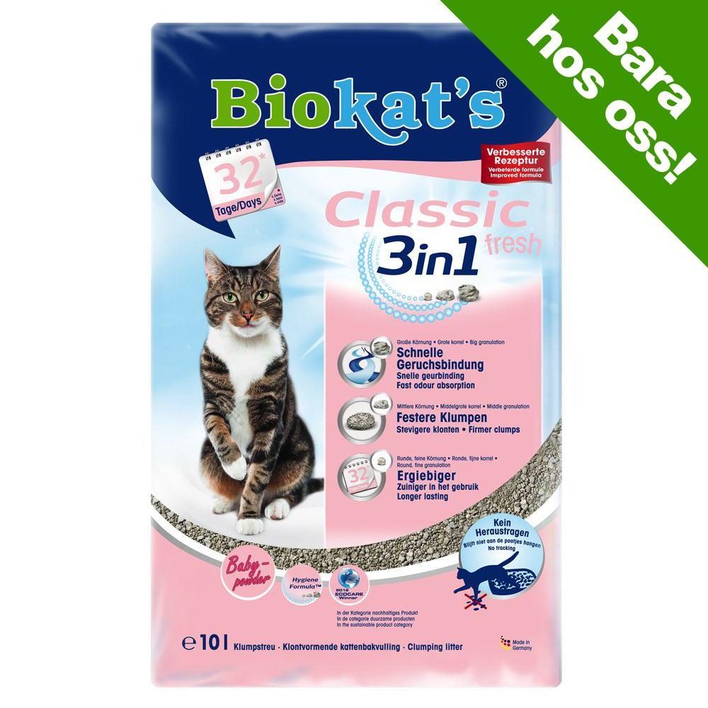 Biokat's Classic Fresh 3in1 babypuderdoft – 10 l