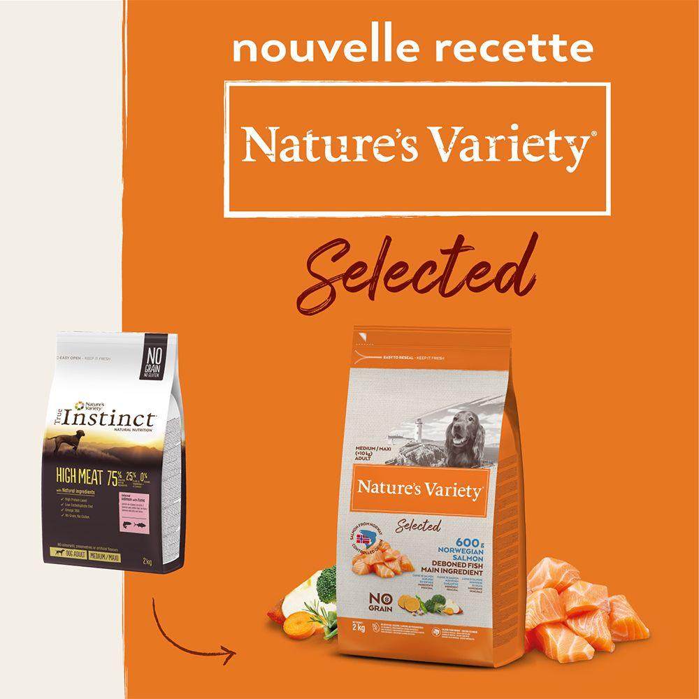 2x12kg Nature's Variety Selected Medium Adult saumon de Norvège - Croquettes pour chien