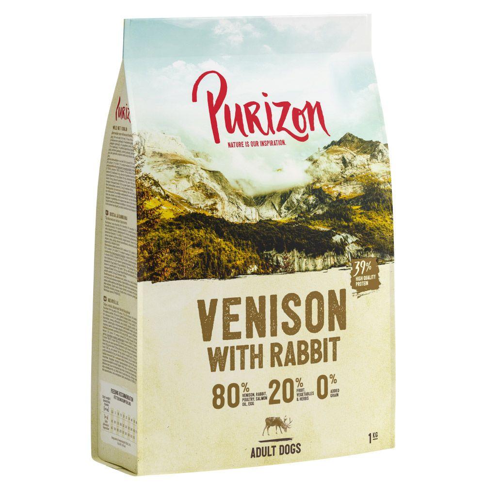UUSI RESEPTI: Purizon Venison & Rabbit Adult - viljaton - säästöpakkaus: 2 x 12 kg