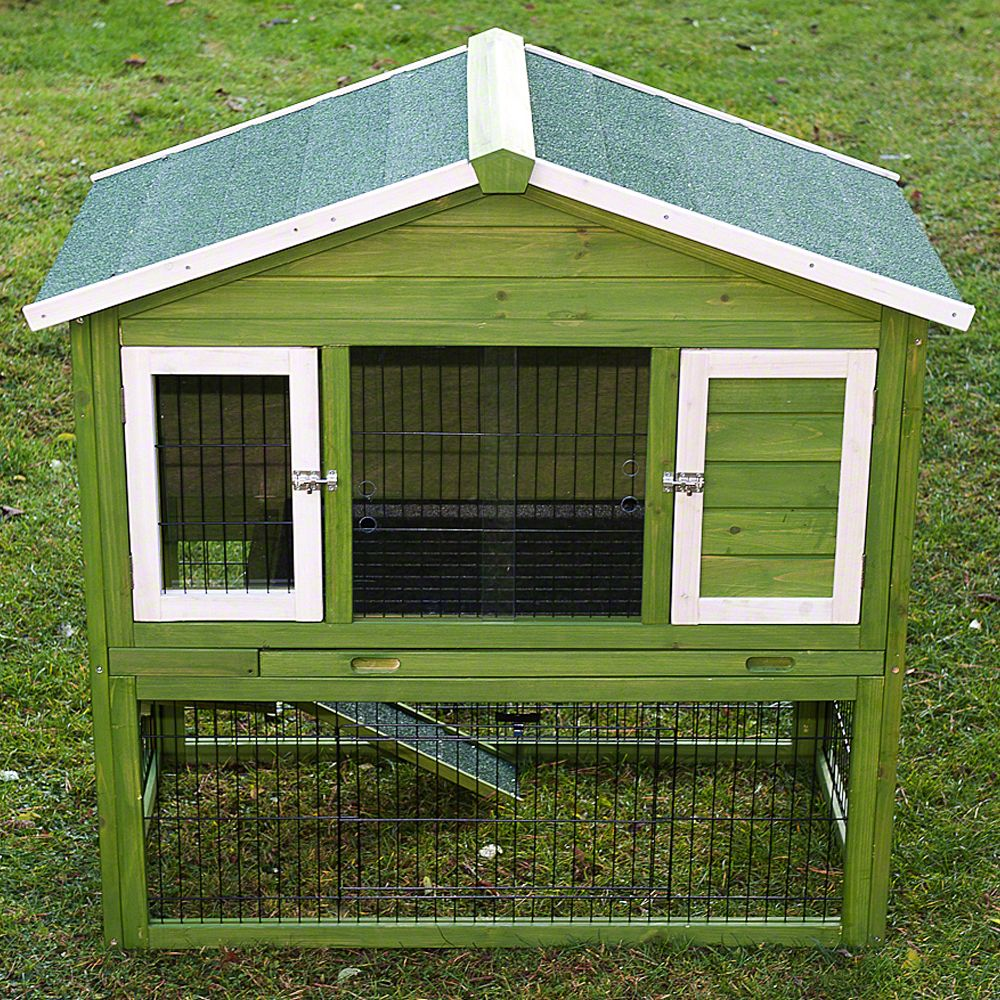 A great rabbit hutch with integrated run. The sleeping area is well insulated so you can leave your pet outside, no matter what the weather. And the integrated run...