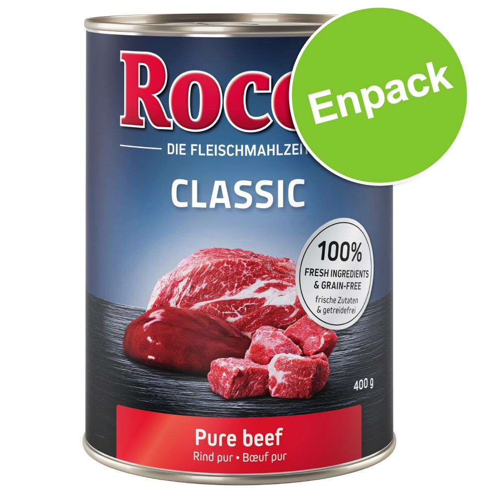Rocco 1 x 400 g hundfoder - Classic Nötkött med kyckling