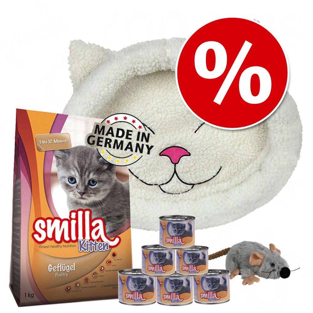 Smilla Kitten pakiet startowy + legowisko i zabawka pluszowa mysz - Pakiet startowy + legowisko i zabawka