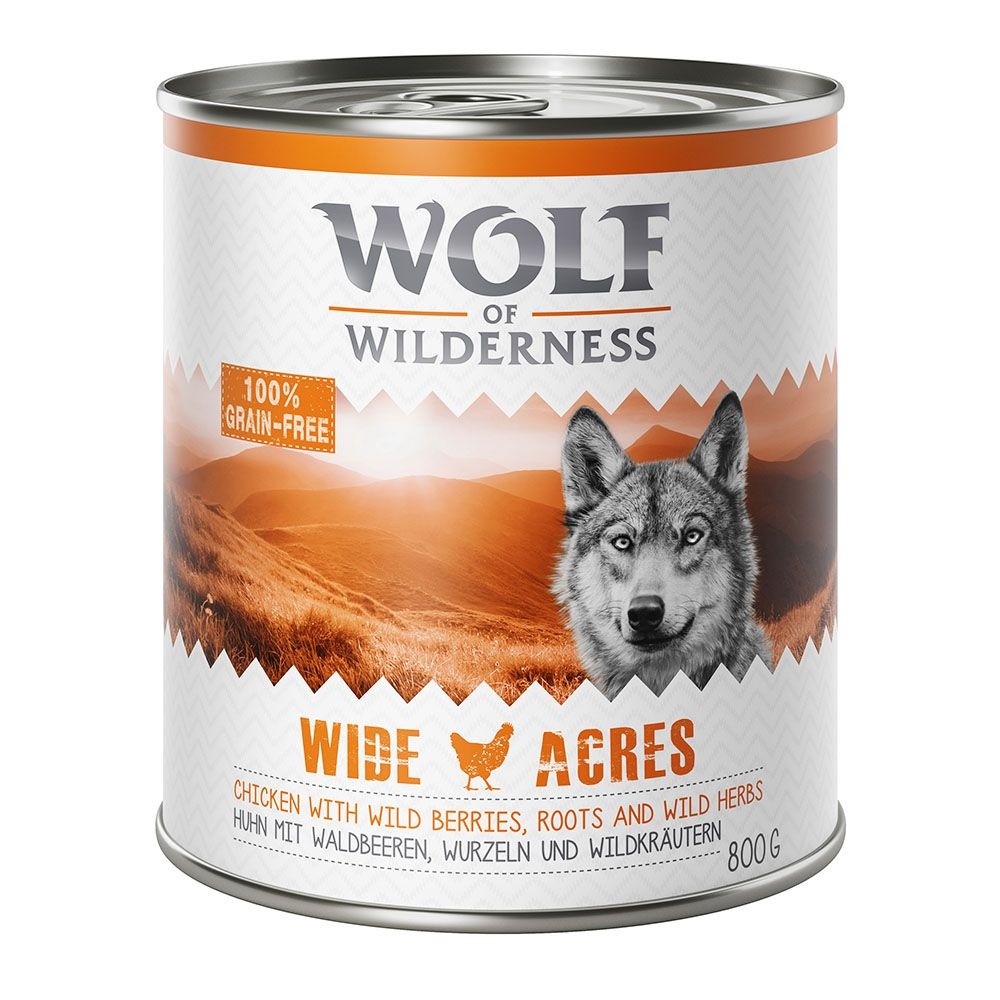 Wide Acres Chicken Wolf of Wilderness Wet Dog Food