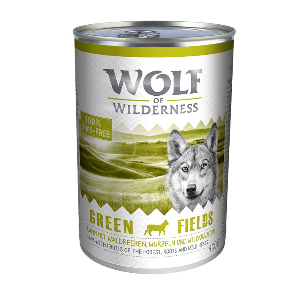 Wolf of Wilderness 6 x 400 g - Green Fields - Lamm