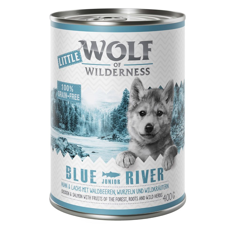 Junior Wild Hills Duck & Veal Wolf of Wilderness Wet Dog Food