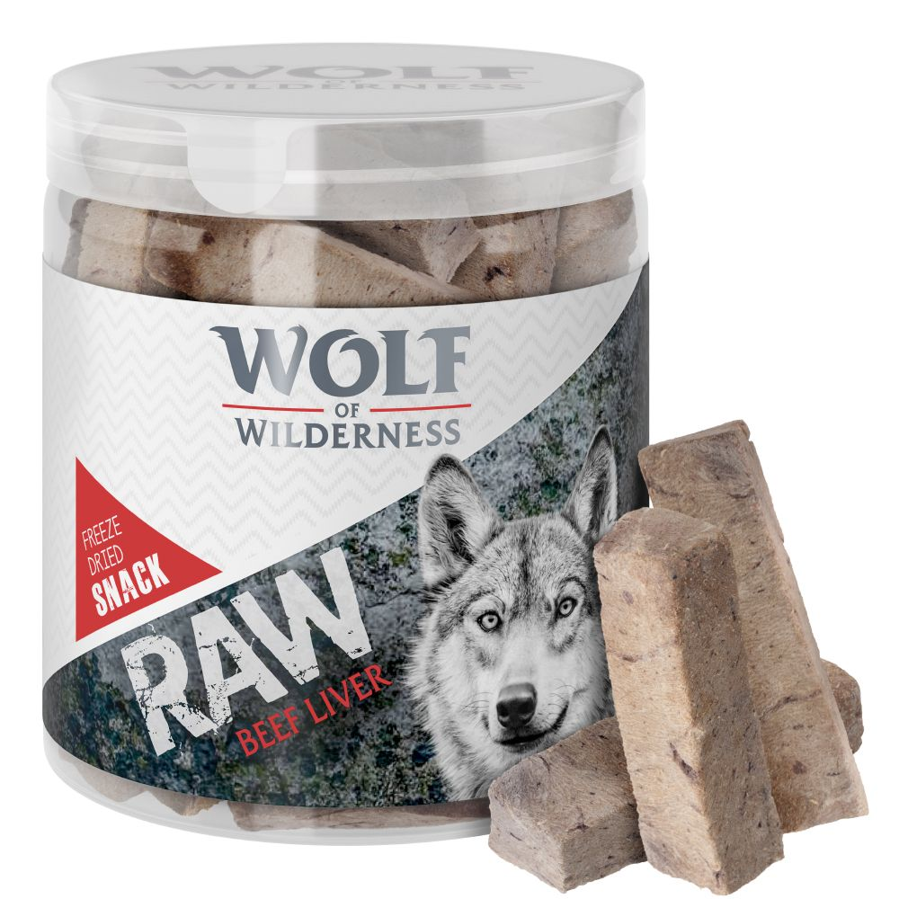 Wolf of Wilderness - Gefriergetrocknete Premium-Snacks Die gefriergetrockneten Snacks von Wolf of Wilderness sind natürliche, getreidefreie Snacks aus 100 % reinen Hühnerherzen, reiner Lammlunge, reiner Rinderleber oder reinem Lachsfilet. Der urspüngliche Geschmack und die Näh...