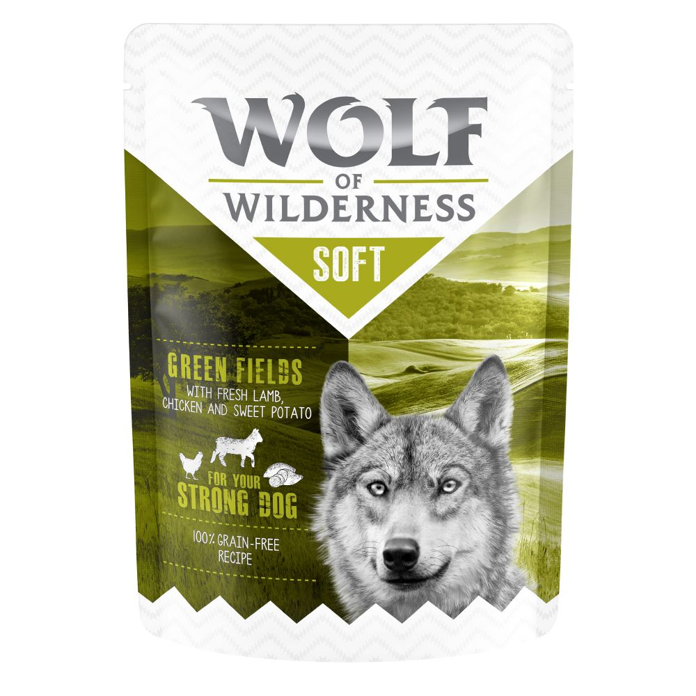Wolf of Wilderness Soft Chicken & Veal Leafy Willows Pouch 6x300g