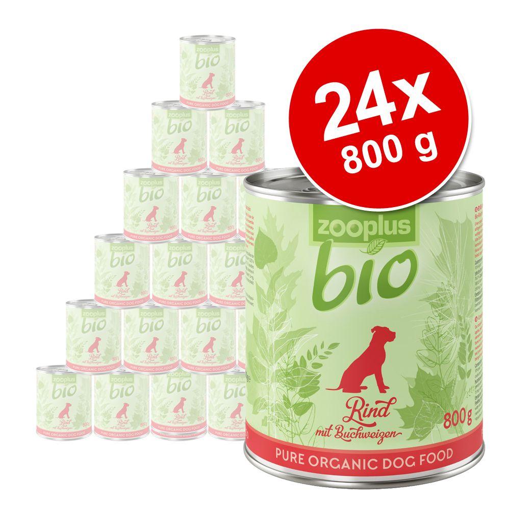 24x800g zooplus bio bœuf, sarrasin - Pâtée pour chien