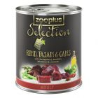 zooplus Selection Adult Beef, Pheasant & Goose - 6 x 800g