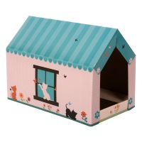 XL Cat Den with Scratching Pad - 58 x 36 x 41 cm (L x W x H)