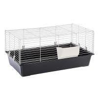 Piggy Basic Rabbit & Guinea Pig Cage - Black: 95 x 57 x 46 cm (L x W x H)