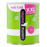 Cosma Snackies XXL Maxi Tube - Double Points!* - White Fish 110g