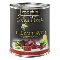 zooplus Selection Adult Beef, Pheasant & Goose - Saver Pack: 24 x 400g