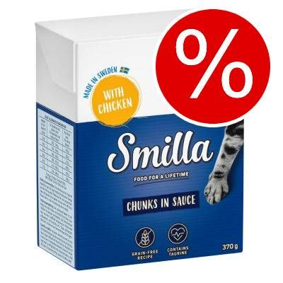 Kanonpris! 24 x 370/380 g Smilla Chunks i sås/gelé I gelé: Nötkött 24 x 380 g