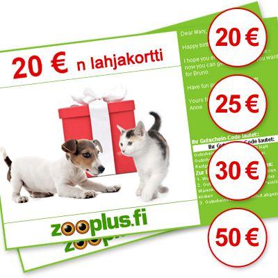 zooplus-lahjakortti - arvo: 30 euroa
